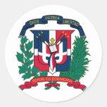 Escudo de armas de la República Dominicana Pegatinas Redondas