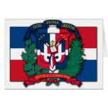 Escudo de armas de la República Dominicana Tarjetas