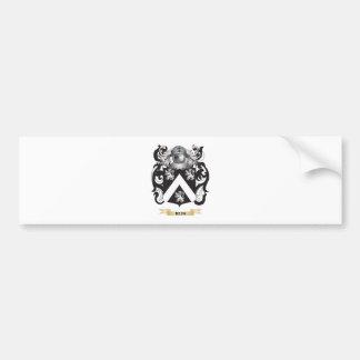 Escudo de armas de la rienda (escudo de la familia pegatina de parachoque