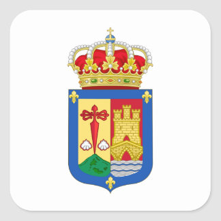 Escudo de armas de La Rioja (España) Pegatina Cuadrada