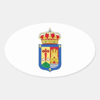 Escudo de armas de La Rioja (España) Pegatina Ovalada