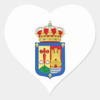 Escudo de armas de La Rioja (España) Pegatina En Forma De Corazón