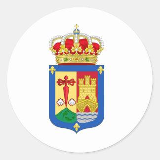 Escudo de armas de La Rioja (España) Pegatina Redonda