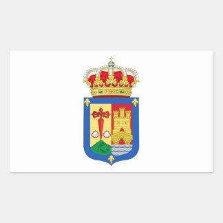 Escudo de armas de La Rioja (España) Pegatina Rectangular