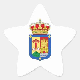 Escudo de armas de La Rioja (España) Pegatina En Forma De Estrella