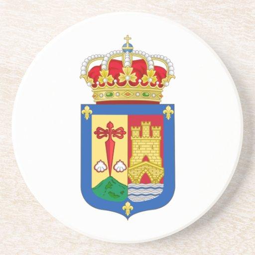 Escudo de armas de La Rioja (España) Posavasos De Arenisca