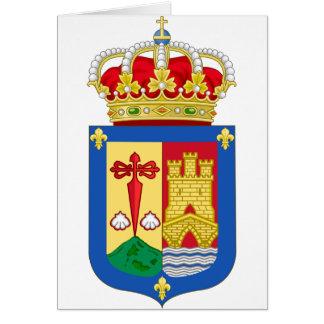 Escudo de armas de La Rioja (España) Tarjeta De Felicitación