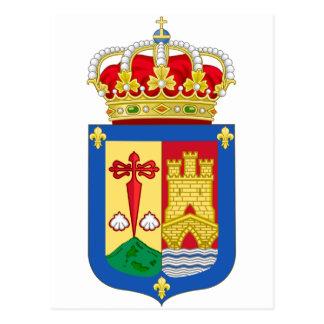 Escudo de armas de La Rioja (España) Tarjeta Postal