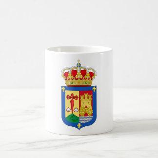 Escudo de armas de La Rioja (España) Taza Básica Blanca
