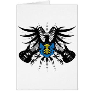 Escudo de armas de la roca tarjeta de felicitación