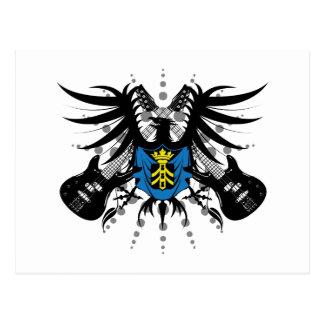 Escudo de armas de la roca postales