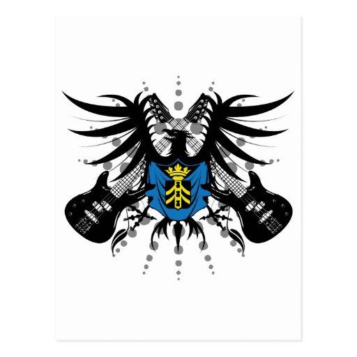 Escudo de armas de la roca tarjetas postales