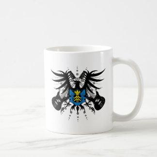 Escudo de armas de la roca taza de café
