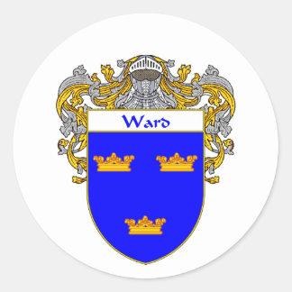 Escudo de armas de la sala (cubierto) pegatina redonda