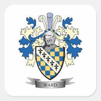 Escudo de armas de la sala pegatina cuadrada