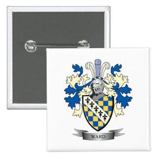 Escudo de armas de la sala pin cuadrado