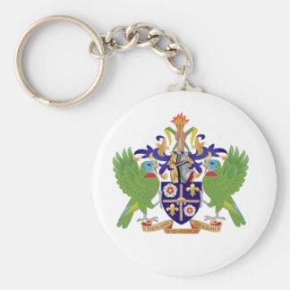 Escudo de armas de la Santa Lucía Llaveros Personalizados