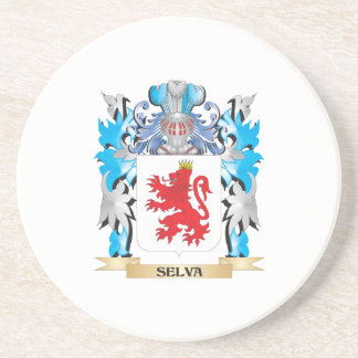 Escudo de armas de la selva - escudo de la familia posavasos diseño