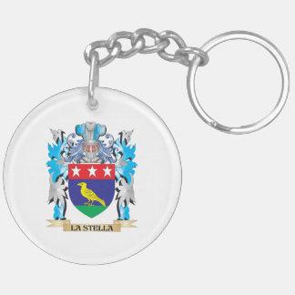Escudo de armas de La-Stella - escudo de la Llavero Redondo Acrílico A Doble Cara