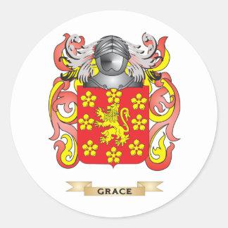 Escudo de armas de la tolerancia (escudo de la fam pegatina redonda