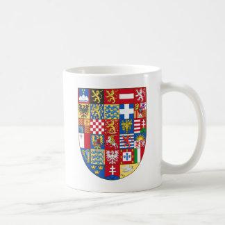 Escudo de armas de la unión europea taza de café