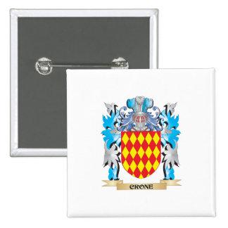 Escudo de armas de la vieja arrugada - escudo de l pins