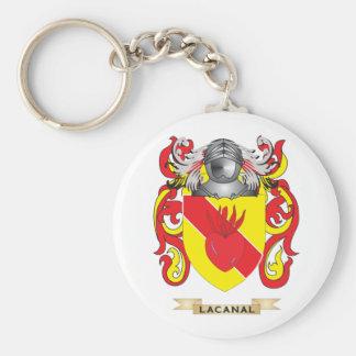 Escudo de armas de Lacanal (escudo de la familia) Llavero Redondo Tipo Pin