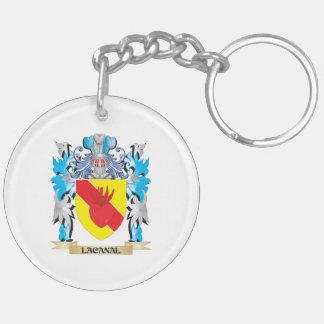 Escudo de armas de Lacanal - escudo de la familia Llavero Redondo Acrílico A Doble Cara