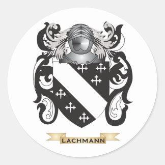 Escudo de armas de Lachmann (escudo de la familia) Pegatinas Redondas
