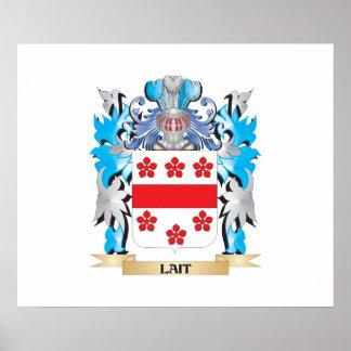 Escudo de armas de Lait - escudo de la familia Impresiones