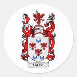 Escudo de armas de LALLY Pegatina Redonda