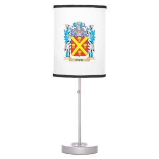 Escudo de armas de lámina - escudo de la familia lámpara de escritorio