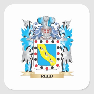 Escudo de armas de lámina - escudo de la familia pegatina cuadrada