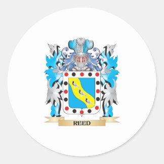 Escudo de armas de lámina - escudo de la familia pegatina redonda
