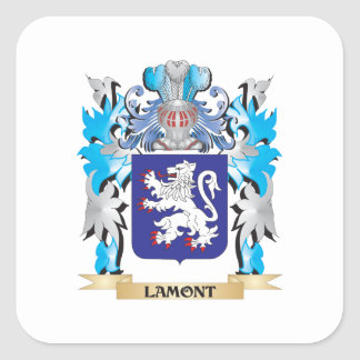 Escudo de armas de Lamont - escudo de la familia Pegatina Cuadrada