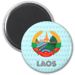 Escudo de armas de Laos Imán De Frigorífico