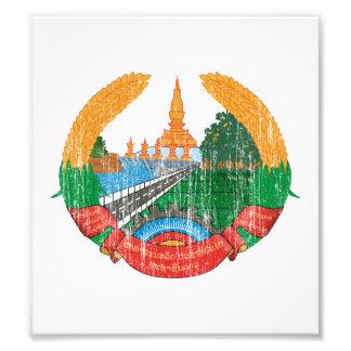 Escudo de armas de Laos Impresiones Fotograficas