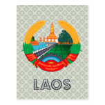 Escudo de armas de Laos Tarjeta Postal