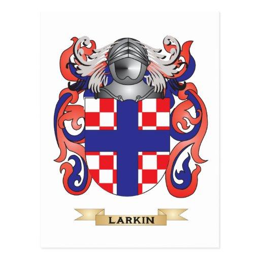 Escudo de armas de Larkin (escudo de la familia) Tarjeta Postal