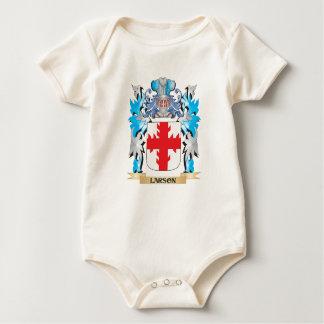 Escudo de armas de Larson - escudo de la familia Mameluco De Bebé