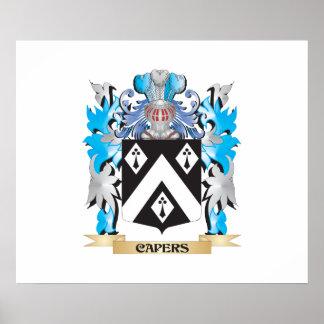 Escudo de armas de las alcaparras - escudo de la f poster