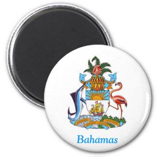 Escudo de armas de las Bahamas Imán Redondo 5 Cm