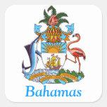 Escudo de armas de las Bahamas Pegatina Cuadrada