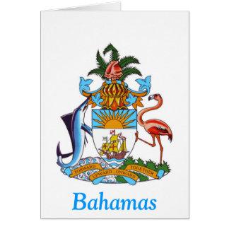 Escudo de armas de las Bahamas Felicitaciones