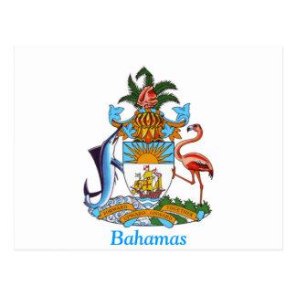 Escudo de armas de las Bahamas Tarjetas Postales