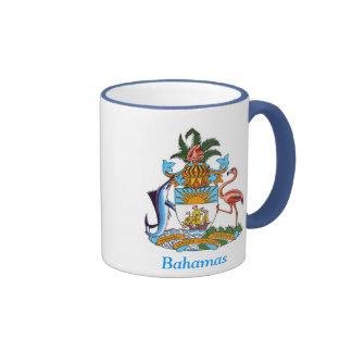 Escudo de armas de las Bahamas Taza A Dos Colores