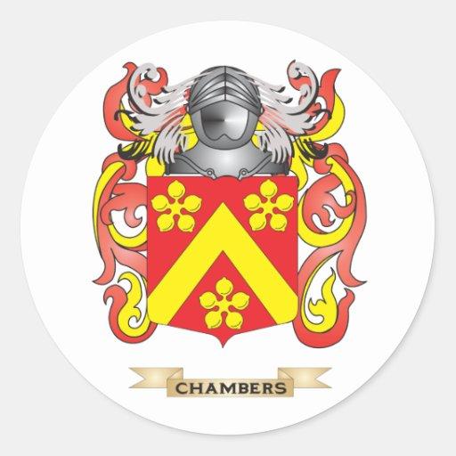 Escudo de armas de las cámaras etiquetas redondas
