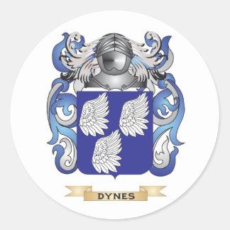 Escudo de armas de las dinas pegatinas