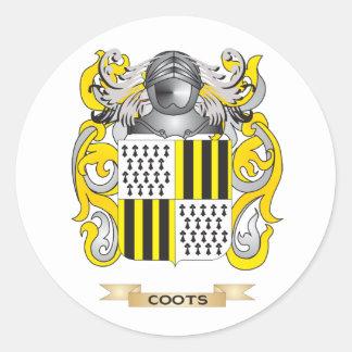 Escudo de armas de las fochas pegatina redonda