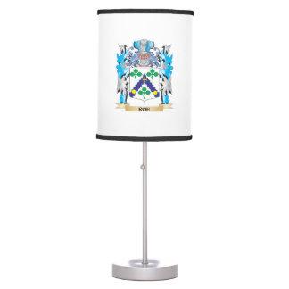 Escudo de armas de las huevas - escudo de la lámpara de mesilla de noche